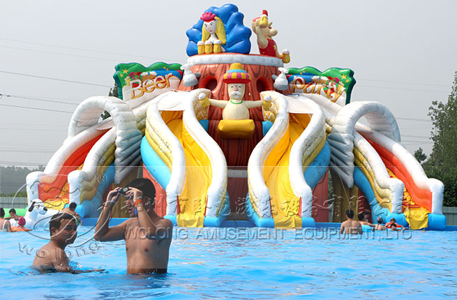 crazy beer water slide