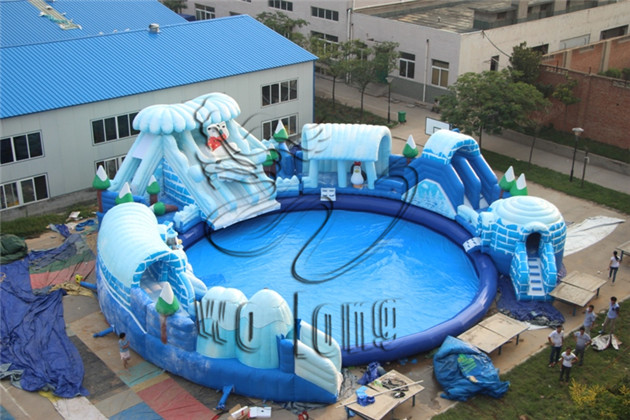 inflatable pool slideWater parkWolong Amusement Equipment CoLTD