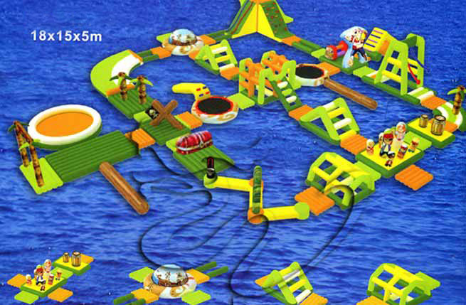inflatable water obstacle course(3)