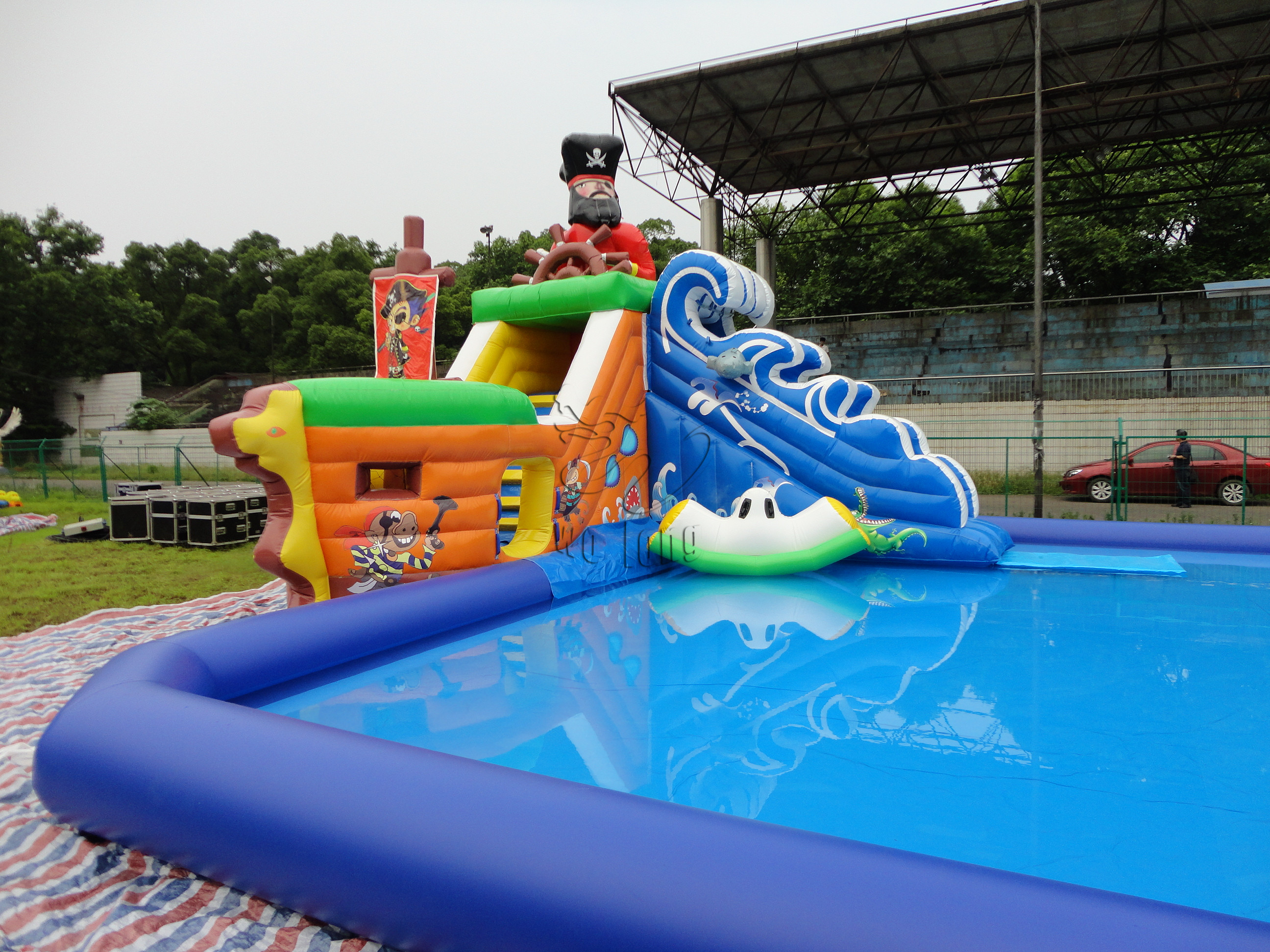 Inflatable pool slide water park wolong amusement equipment co ltd - Inflatable pool ...